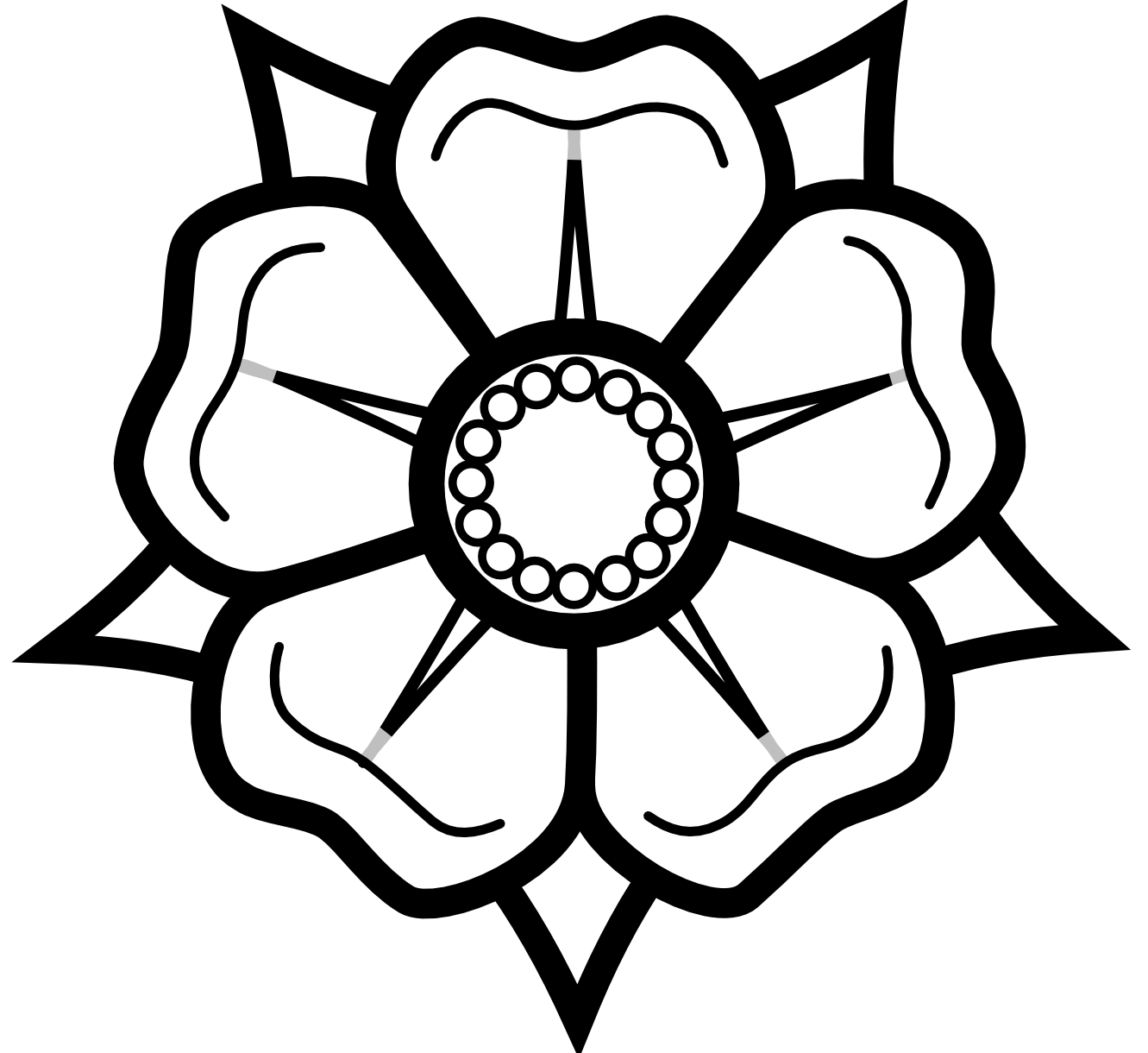Black And White Flower Drawings - ClipArt Best