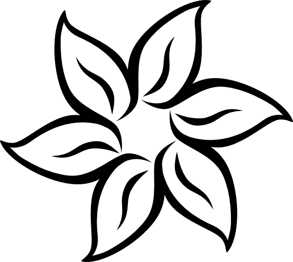 clipart line flower - photo #15