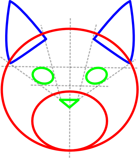 How to draw cat face