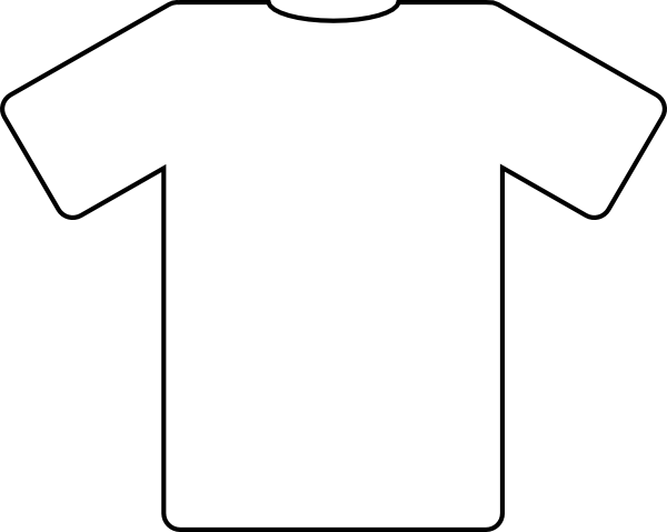 t shirt shape clipart - photo #3