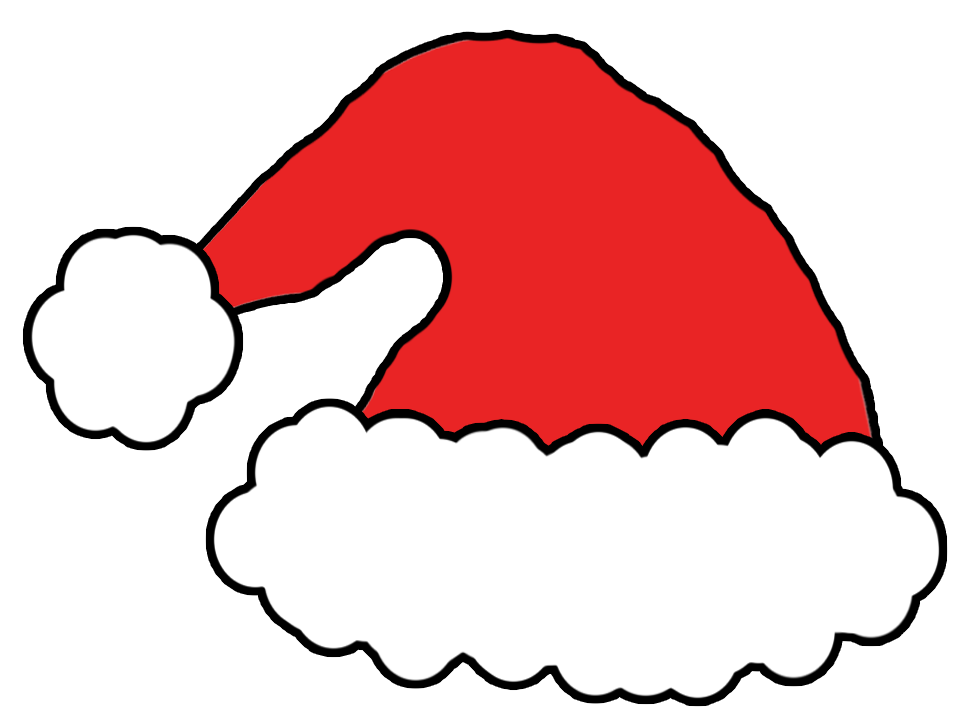 santa hat clipart with transparent background - photo #3