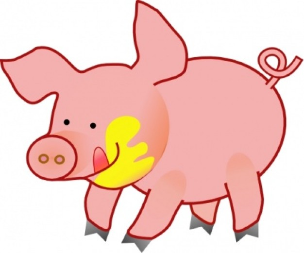Happy Pig clip art | Download free Vector