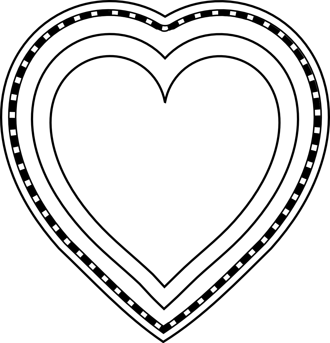 Decorated Heart Drawings Decorative Heart Free Digital