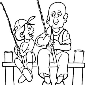 free fishing pole coloring pages - photo#29