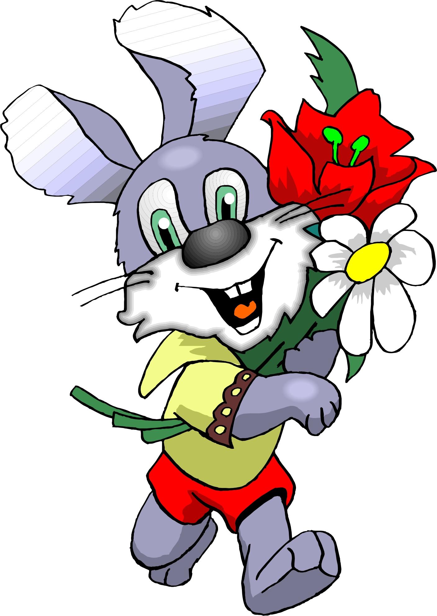 Заяц с цветком картинки 3