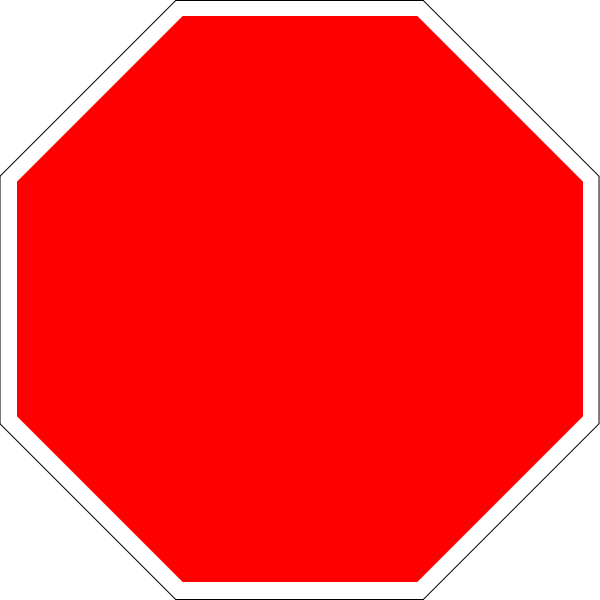Blank stop sign octagon.svg