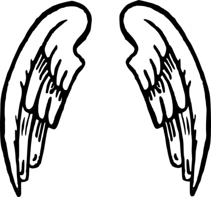 Simple Angel Wing Tattoos Design Angel Wings Tattoo Clip Art