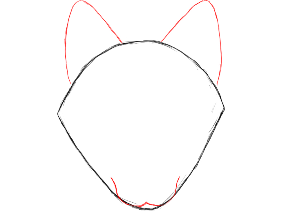 How to draw wolf ears - photo#26