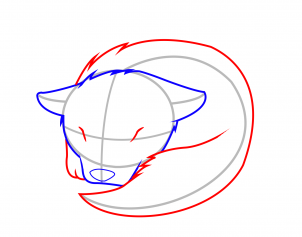 How to Draw a Sleeping Wolf Pup, Step by Step, Animals For Kids ...