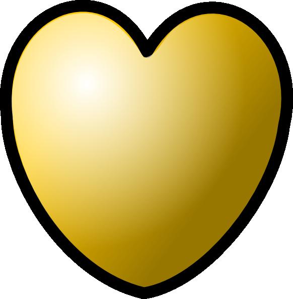 Gold Heart Clipart - ClipArt Best