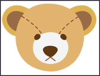 polar bear face template - bear head template clipart best