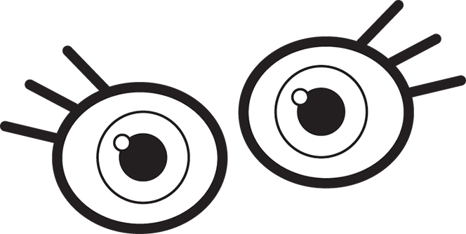 Monster eyes clipart black and white free