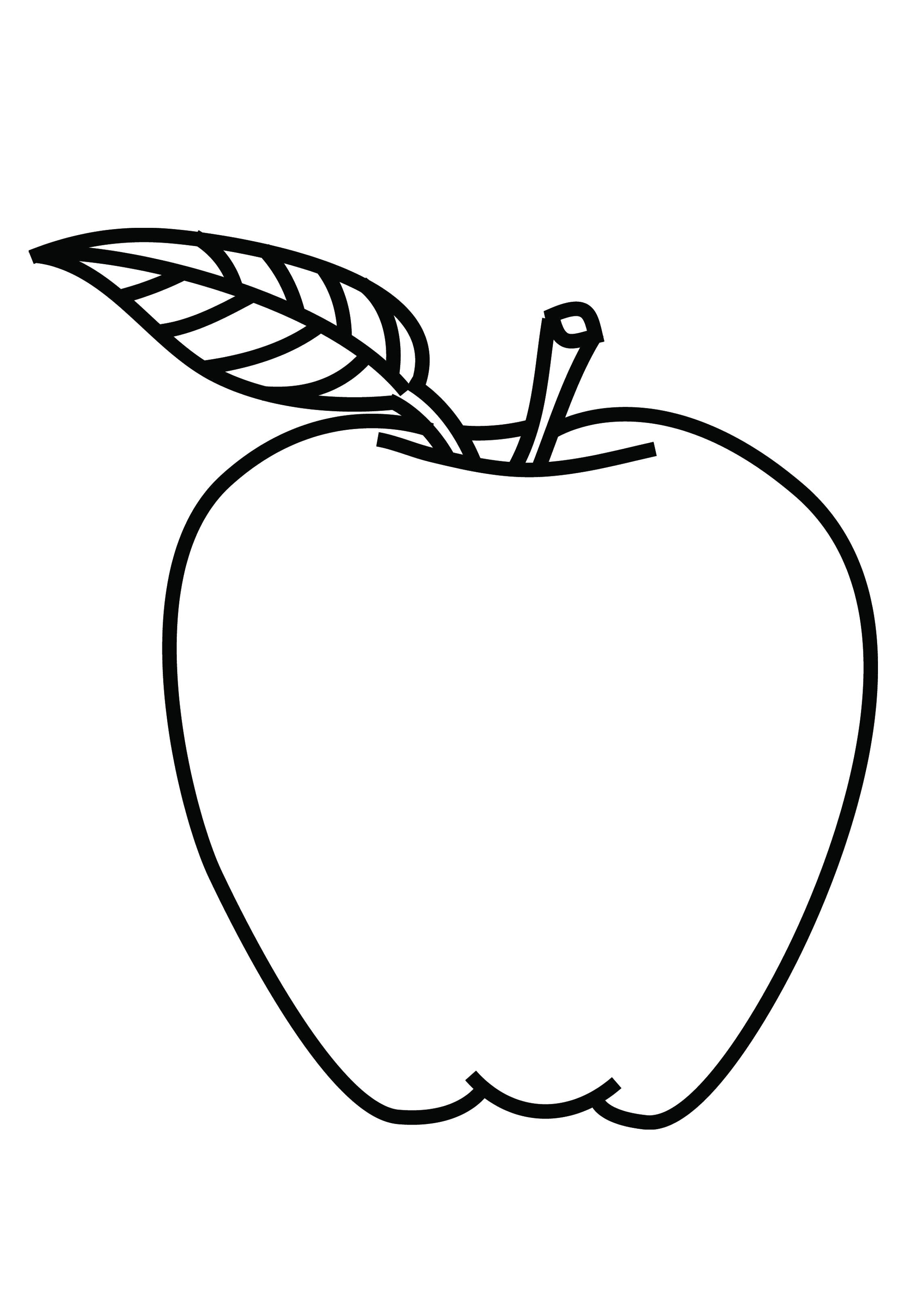 Line Drawing Kindergarten : Sketches of apple drawing for kindergarten student