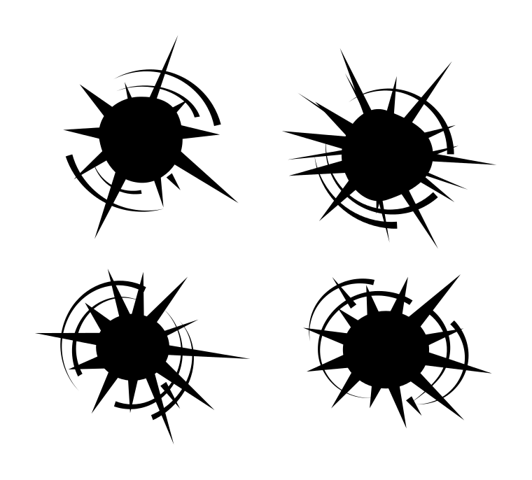 Bullet Hole Tattoo Designs