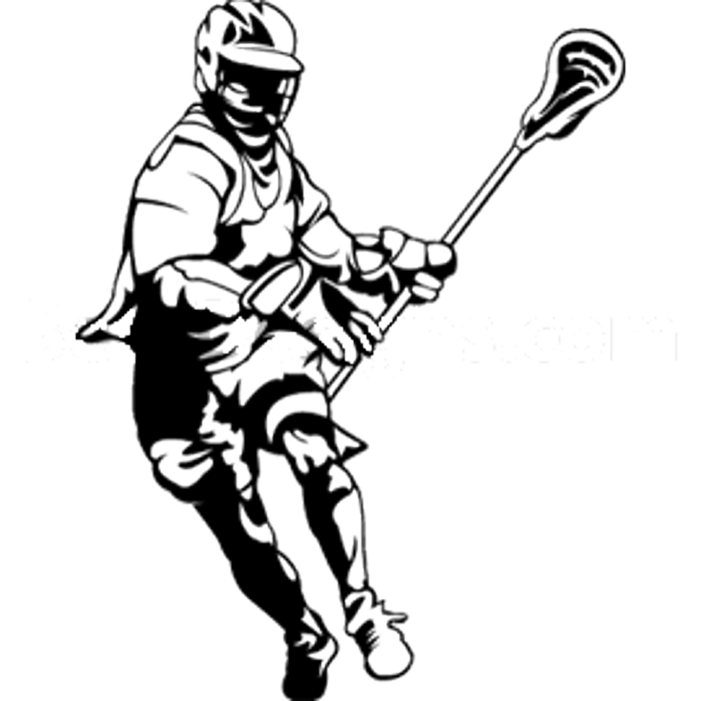 Lacrosse Stick Drawing Clipart Best