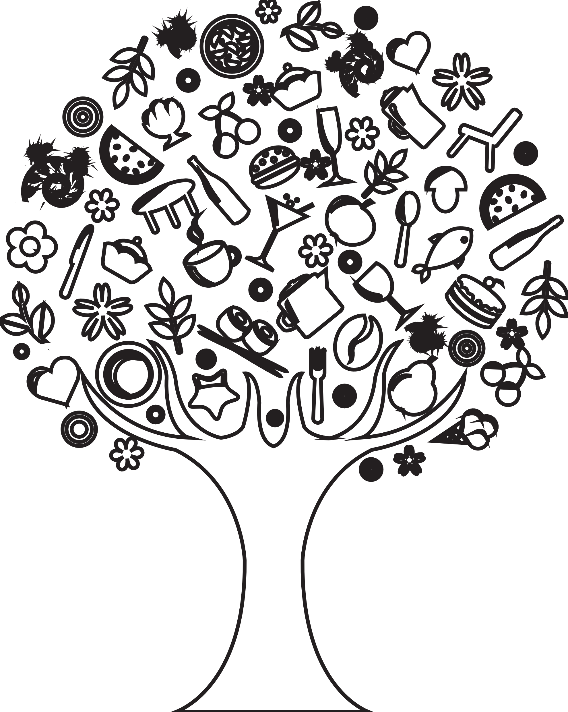 Line Art Painting Hd : Tree drawings clipart best