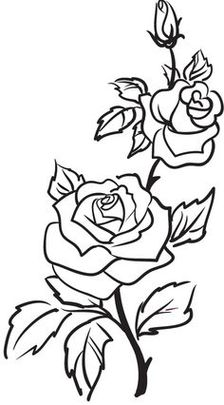 Tattoos On Pinterest Rose Outline And Tattoo Placemen  Clipart ...
