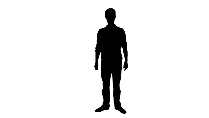 Dancing Man Silhouette With Headphones - 1080p Silhouette Of A ...