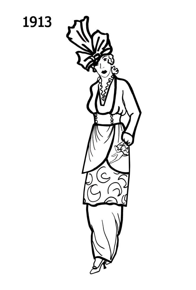 Line Drawing Dress : Dress outline clipart best