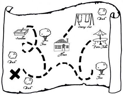 Treasure Hunt Map Template - ClipArt Best