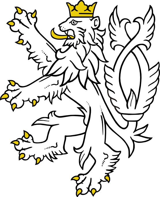 Clip Art: Lion from small Coat of Arms of the ...