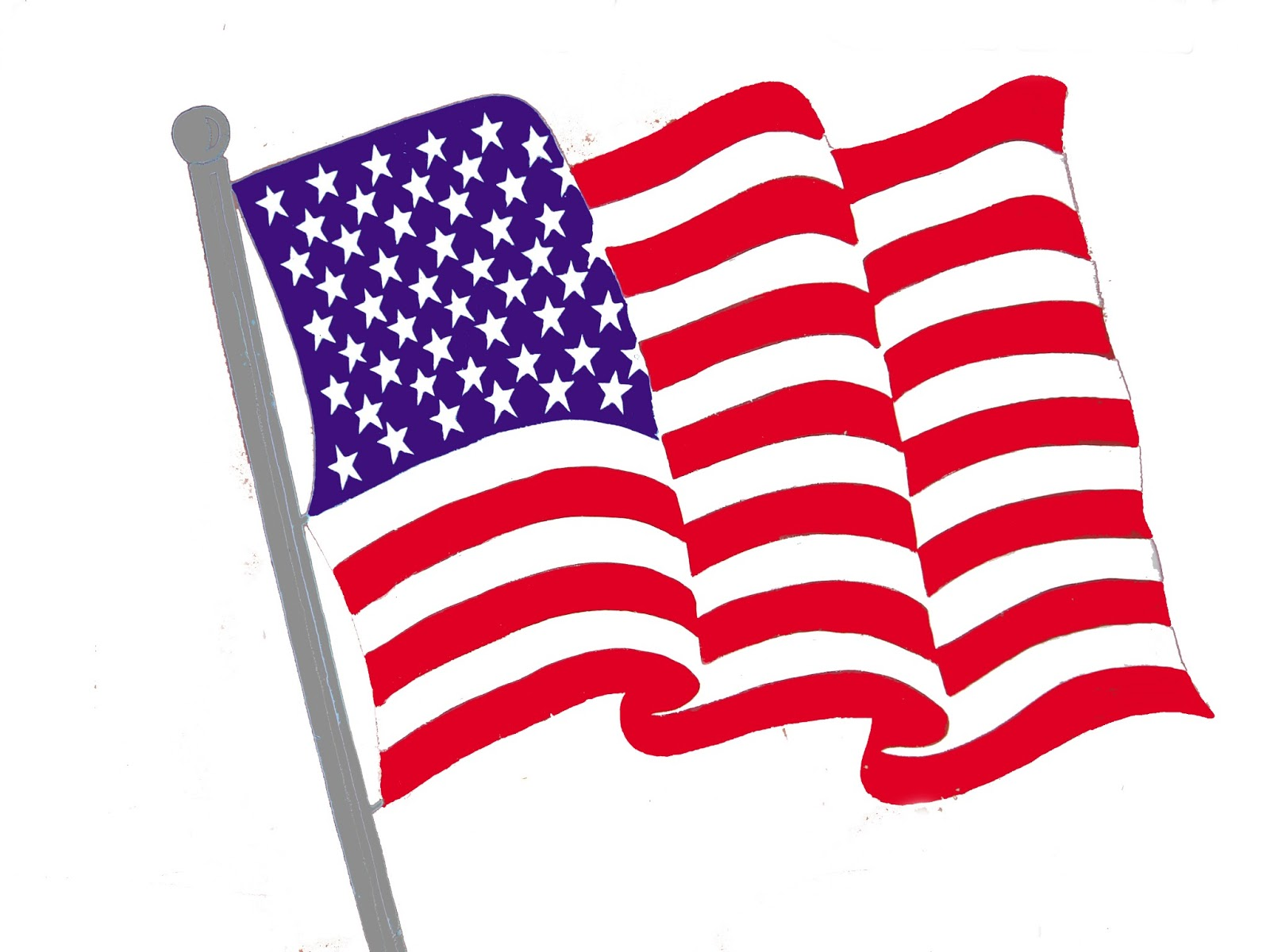 free animated clip art american flag - photo #22