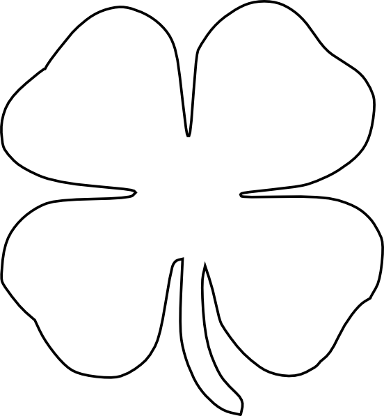 4 Leaf Clover Outline - ClipArt Best