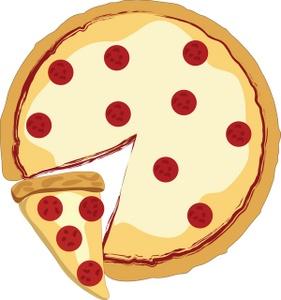 Pizza Clipart Image Whole Pepperoni