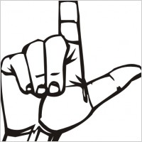 Sign language love you clip art Free vector for free ...