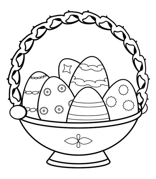 easter clip art coloring pages - photo #15