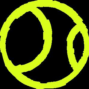 Tennis Ball Icon clip art - vector clip art online, royalty free ...