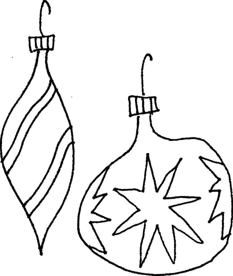 christmas ball coloring page - christmas ball ornament template clipart best
