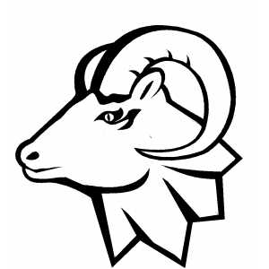 Ram Head Coloring Sheet