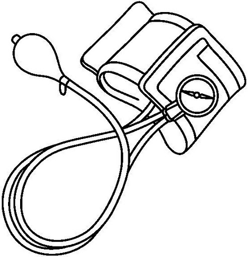 Coloring Pages Blood : Blood pressure machine clipart best