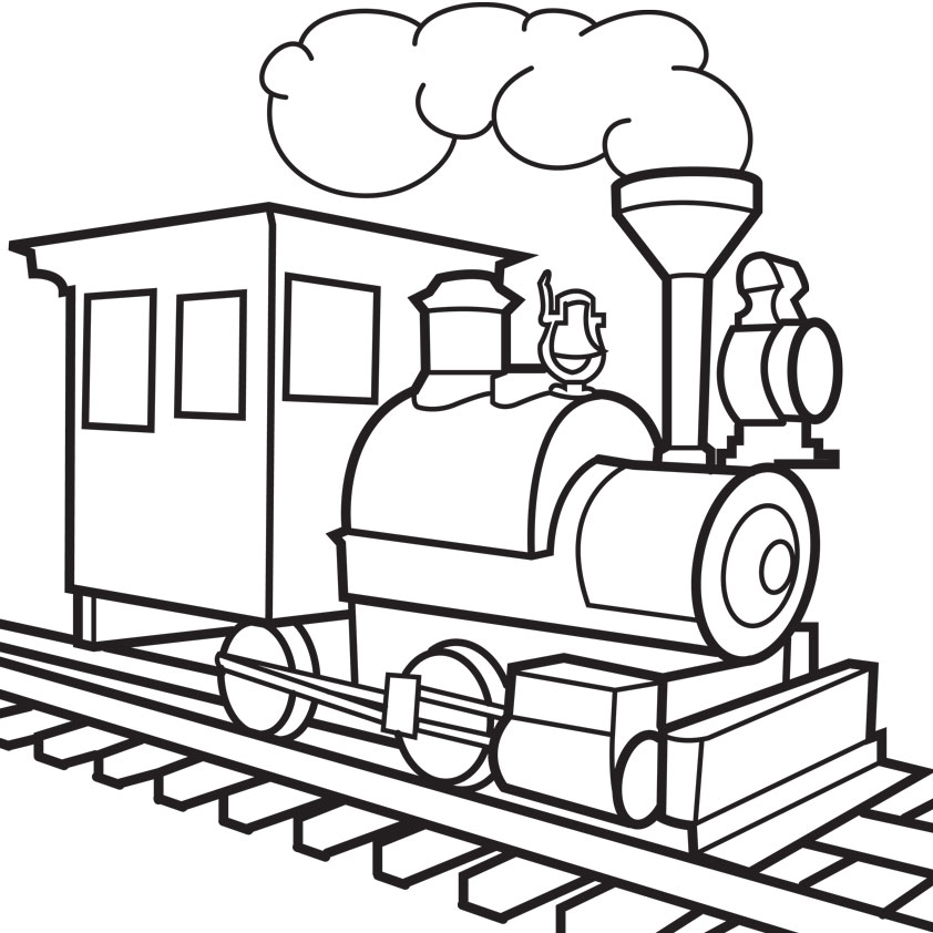 Toy Train Coloring Pages - ClipArt Best