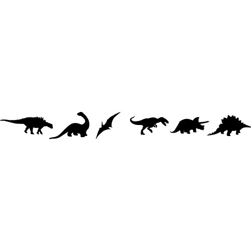 Paper With Black And White Dinosaur Border - ClipArt Best