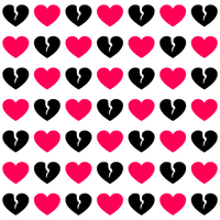 Pink And Black Hearts Wallpaper Clipart Best