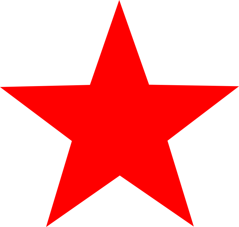 Clipart - red star
