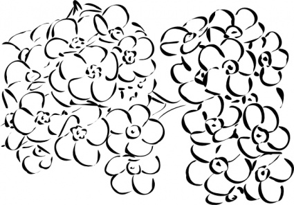 Art Outline Drawings Flowers Outline Clip Art