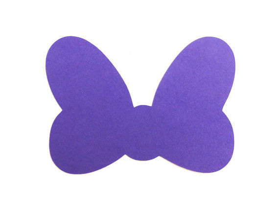 Minnie Mouse Bow Cut Out