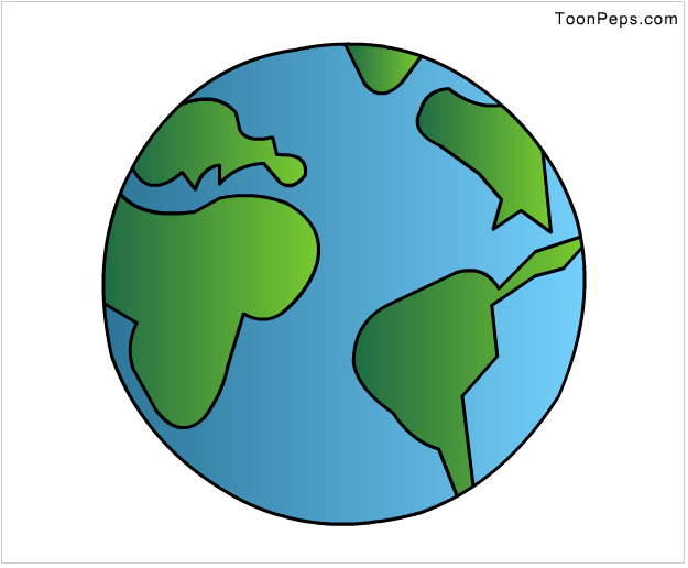 Easy To Draw Earth Of Earth To Drawinge Clipart Best