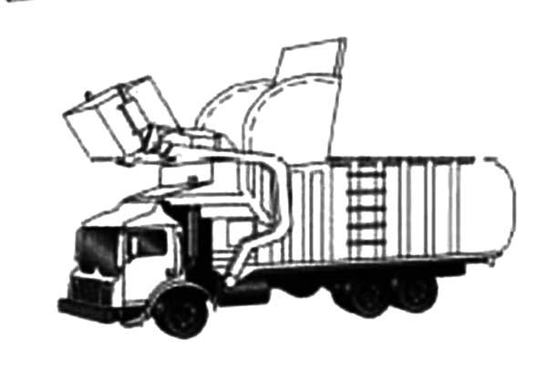 Trash Truck Color Page