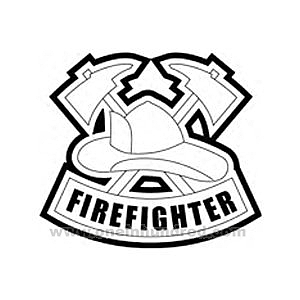 firefighter gear coloring pages - photo#33