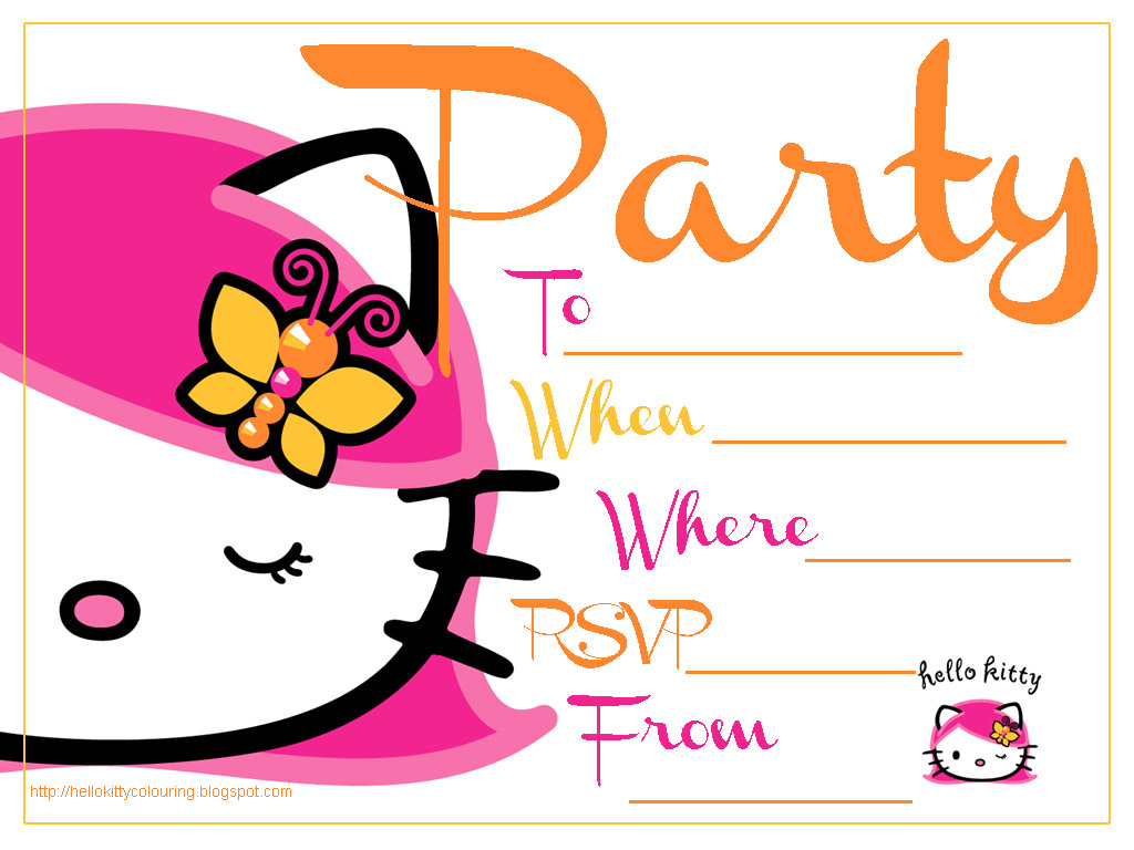 hello kitty invitation templates clipart best hello kitty birthday invitation templates