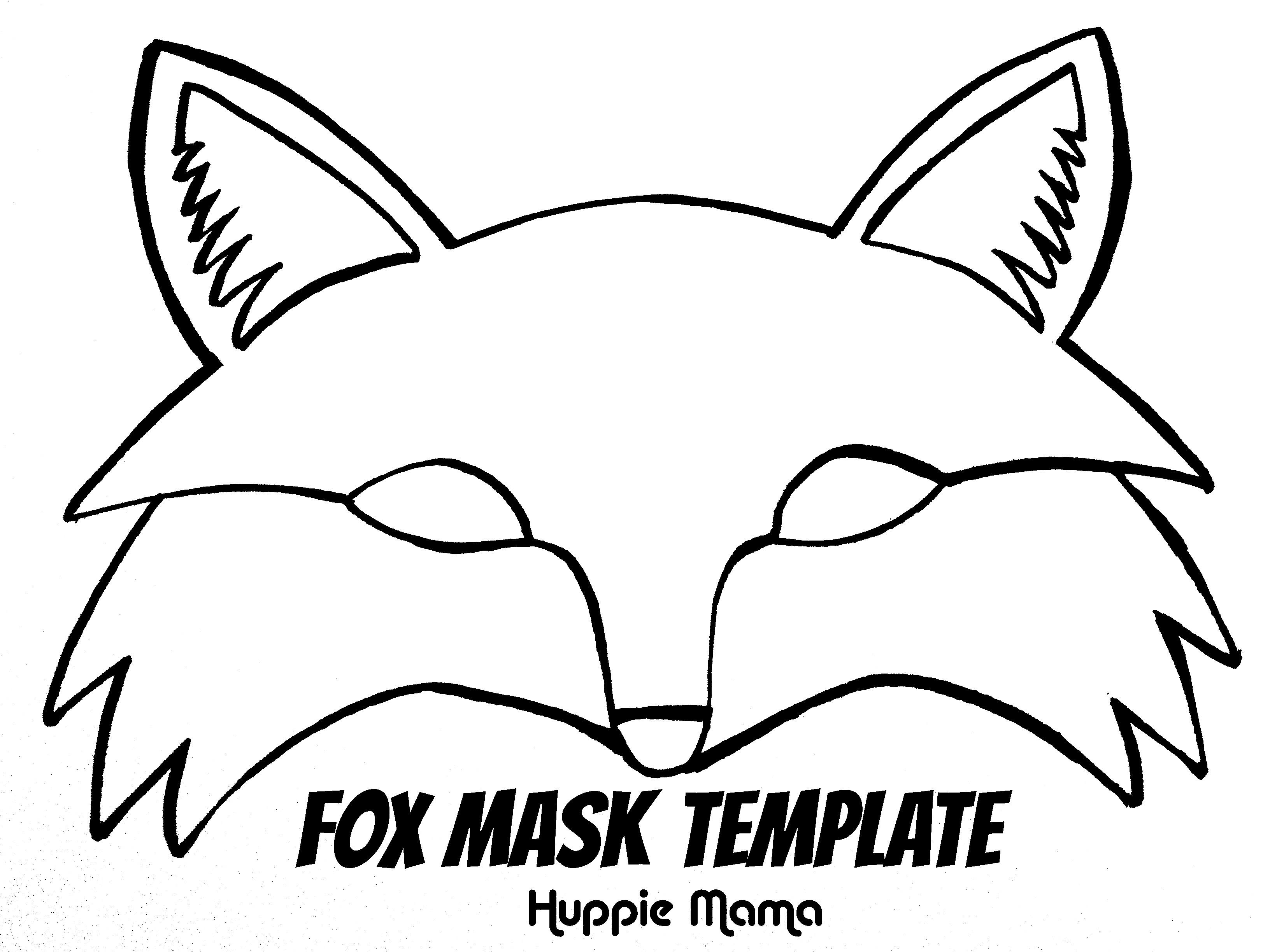 full face mask template pdf