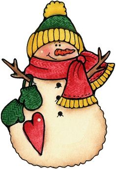 Country Snowman Clipart - ClipArt Best