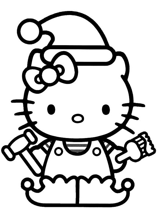 Hello Kitty Christmas Coloring Pages Forever Pictures ...