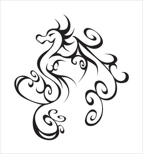 Simple Tribal Dragon Tattoo | Tattoos Design Ideas ...