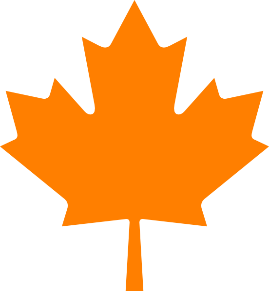 orange leaf clip art - photo #10