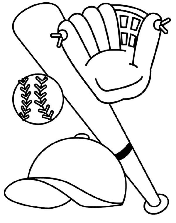 baseball glove coloring pages - photo#25